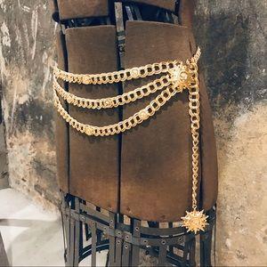 St. John vintage multi strand chain belt